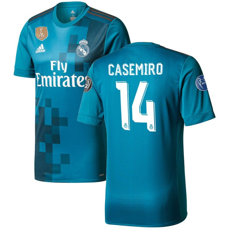 Carlos Casemiro Real Madrid adidas 2017/18 Third Authentic Jersey - Teal