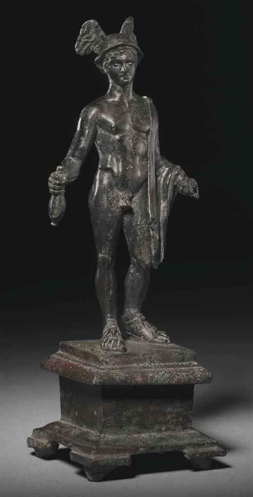 A ROMAN BRONZE STATUETTE OF MERCURY | CIRCA 1ST CENTURY CE ...