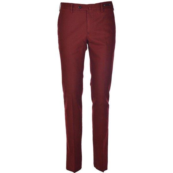 Classic Trousers (635 BRL) ❤ liked on Polyvore featuring men's fashion, men's clothing, men's pants, men's casual pants, mens slim pants, mens slim fit pants, mens zipper pants, mens zip off pants and mens red pants