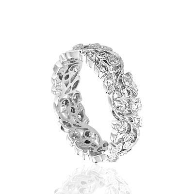 ring: Floral Eternity, Diamonds Floral, Eternity Band, Anniversaries Band, Diamonds Rings, Band Rings, Eternity Rings, Engagement Rings, Rings Things