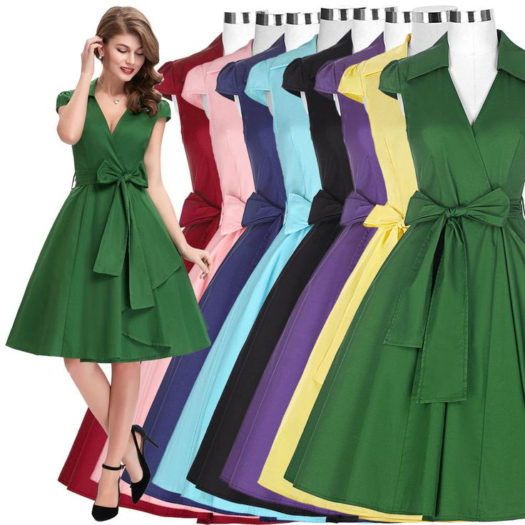 Women Vintage 50s 60s Swing Cap Sleeve Cocktail Evening Party Prom Flared Dress | Clothing, Shoes & Accessories, Women's Clothing, Dresses | eBay!