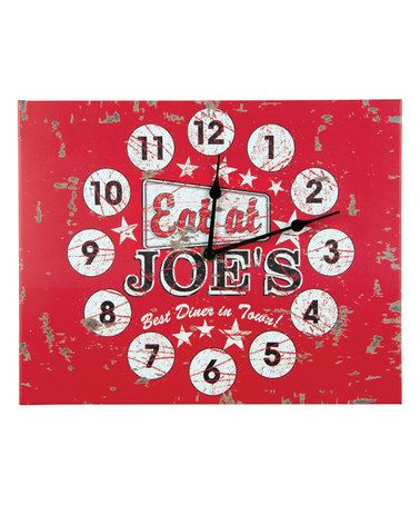 Ena, LOL! you know why I Love this Red 'Eat at Joe's' Clock by Ohio Wholesale, Inc. on #zulily! #zulilyfinds