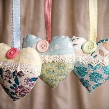 Heart of Lavender Bag; stuff with smell-goods =)