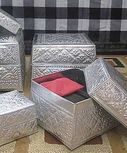 Aluminum Handicrafts - Square box set of 6