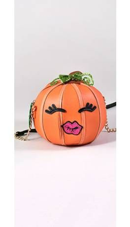 Betsey Johnson Orange Bets-O-Lantern Pumpkin Crossbody