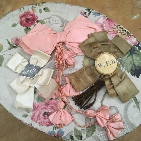 3 Antique Silk Ribbon Badges Proof The 1910s Were Full Of