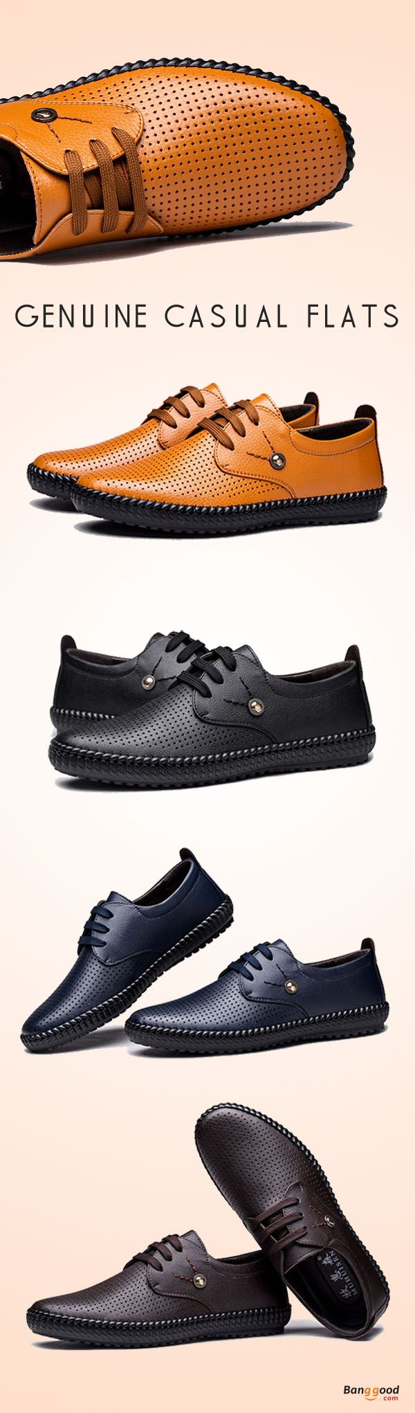 US$44.10+Free shipping. Men Shoes, Casual Oxfords Flats, Breathable, Hollow Out, Genuine Leather, Casual. Color: Black, Brown, Blue, Camel. Show your style,shop now~