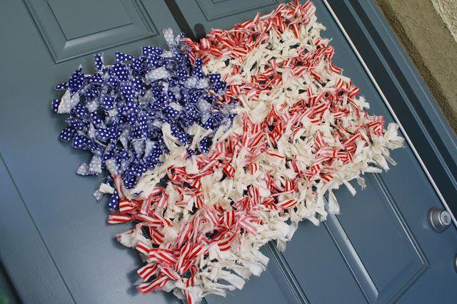 Chicken Wire Rag Flag {Wreath}