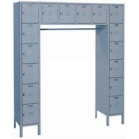 Lyon Locker PP5990SU 16 Person 69x18x78 - 16 Doors Hasp Handle Assembled Putty