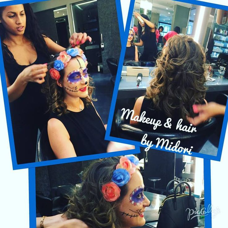 Creative makeup by Midori and stunning curls by Chantal for a client's special event!!