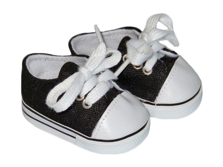 American Boy Doll Shoes.  Silly Monkey - Black Low-Rise Canvas Sneakers, $6.50 (http://www.silly-monkey.com/products/black-low-rise-canvas-sneakers.html)