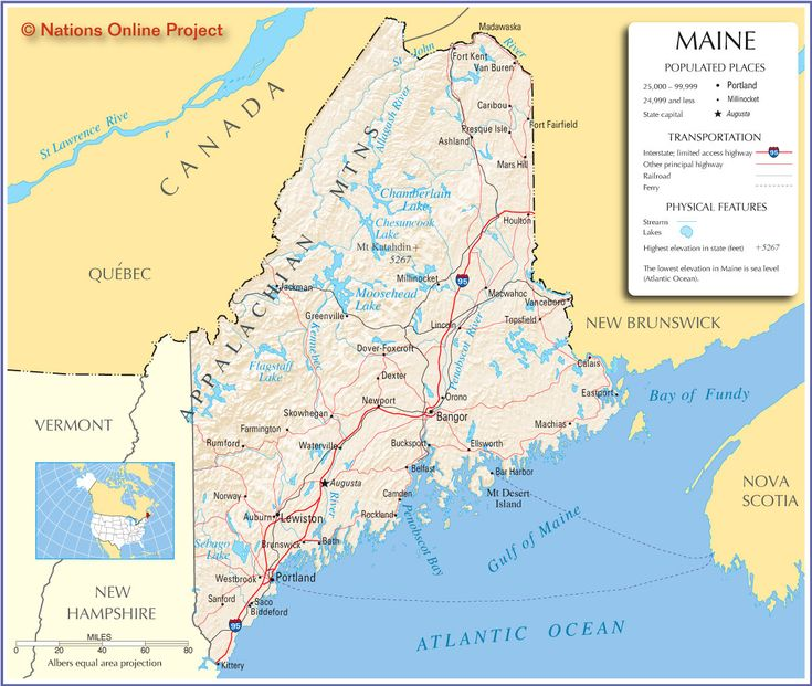 Best ROAD MAPS OF THE UNITED STATES Images On Pinterest Road - Maine in usa map