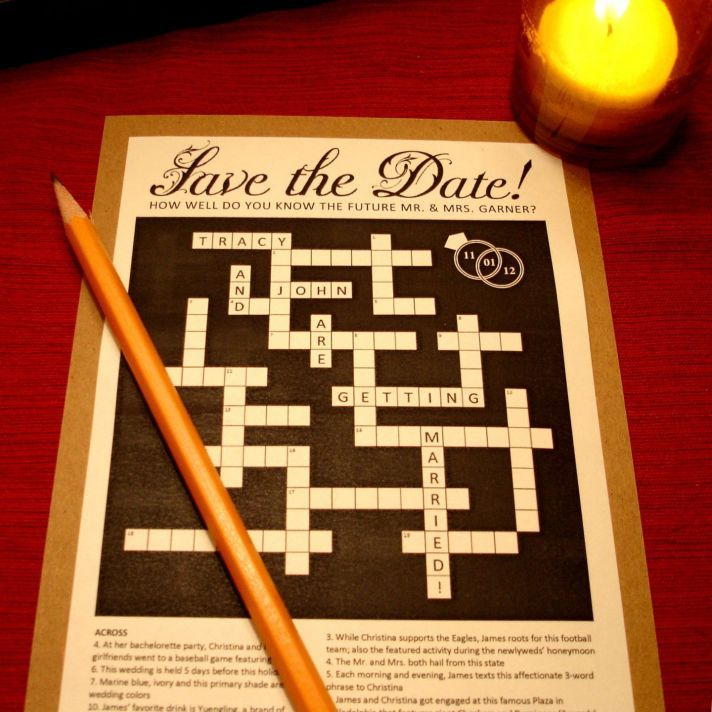 Fabulous  of the Best Wedding Save the Dates Around Crossword PuzzlesDate IdeasInvitation