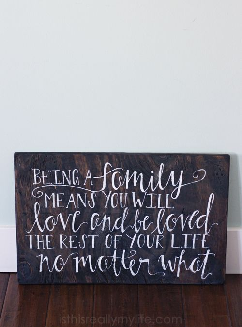 Signed Yours Truly reclaimed wood sign -- these signs are absolutely beautiful and you can customize the saying.