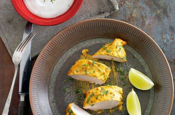 Tandoori kylling med mynte raita