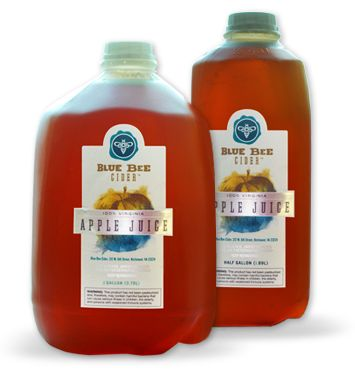 Blue Bee Cider is primarily in the business of producing and selling fermented apple juice, or cider. Occasionally throughout the fall/winter pressing season we offer raw, unfiltered, unpasteurized juice with no preservatives for sale at our premises.