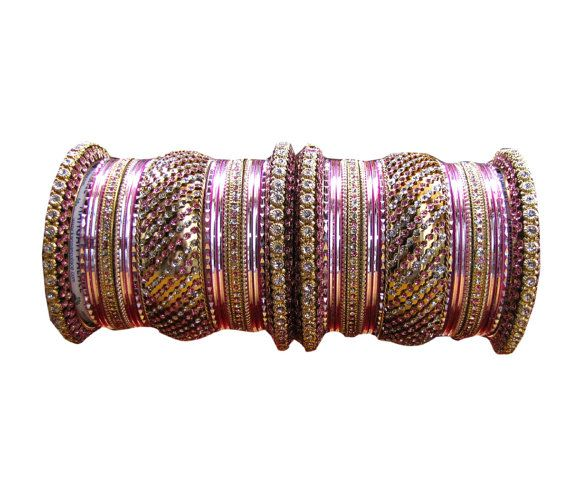2.8 Indian Designer Bollywood Diamante Pink by Shoppingover