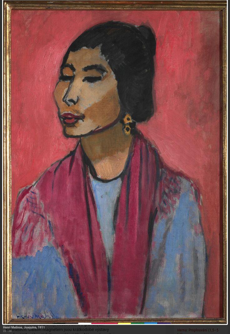 Matisse.  Joaquina. 1911. Narodni Galerie Praga