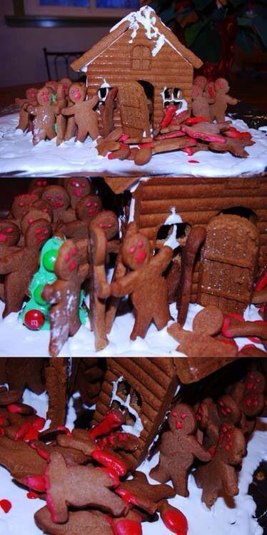 Zombie Gingerbread house.
