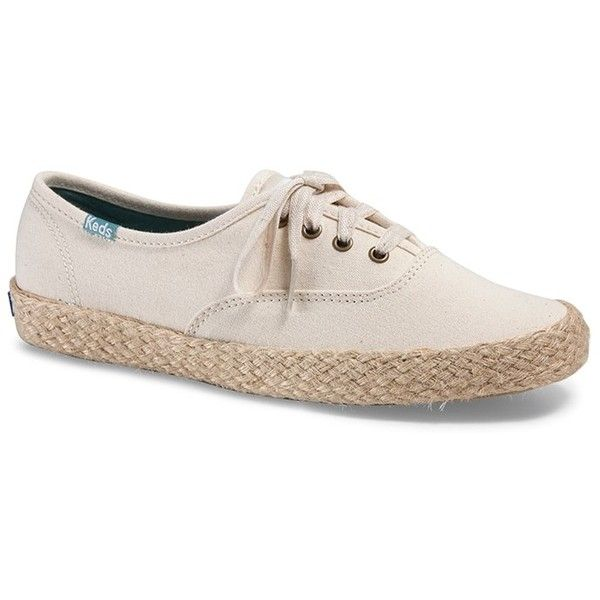 Forever21 Keds Espadrille Tennis Shoes ($39) ❤ liked on Polyvore featuring shoes, sandals, cream, forever 21 sandals, platform espadrille sandals, platform espadrilles, short heel sandals and forever 21 shoes
