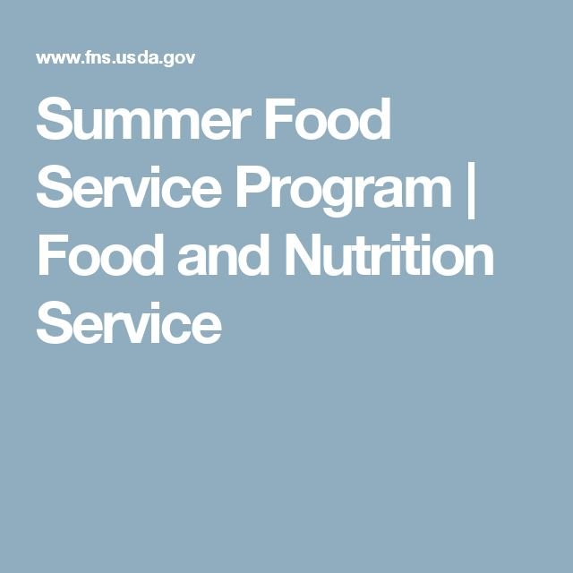 Summer Food Service Program | Food and Nutrition Service