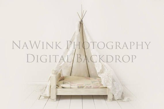Newborn Digital Backdrop // Shabby Chic Vintage Baby Girl