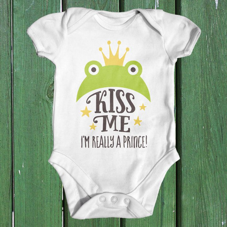 Kiss Me I'm Really A Prince Baby Bodysuit | Baby Boy Clothes | Baby Shower Gift | Funny Baby Clothes | Fairytale Baby | Animal Baby Bodysuit by TinyTearaways on Etsy https://www.etsy.com/listing/454761454/kiss-me-im-really-a-prince-baby-bodysuit