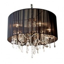 Black Shade Glass Chandelier