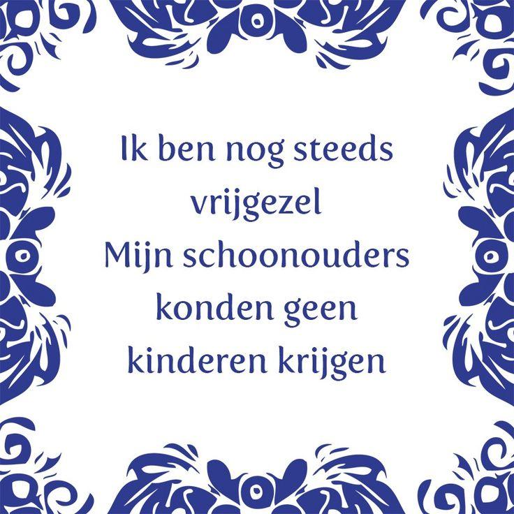 Tegeltjeswijsheid.nl - een uniek presentje - Ik ben nog steeds vrijgezel