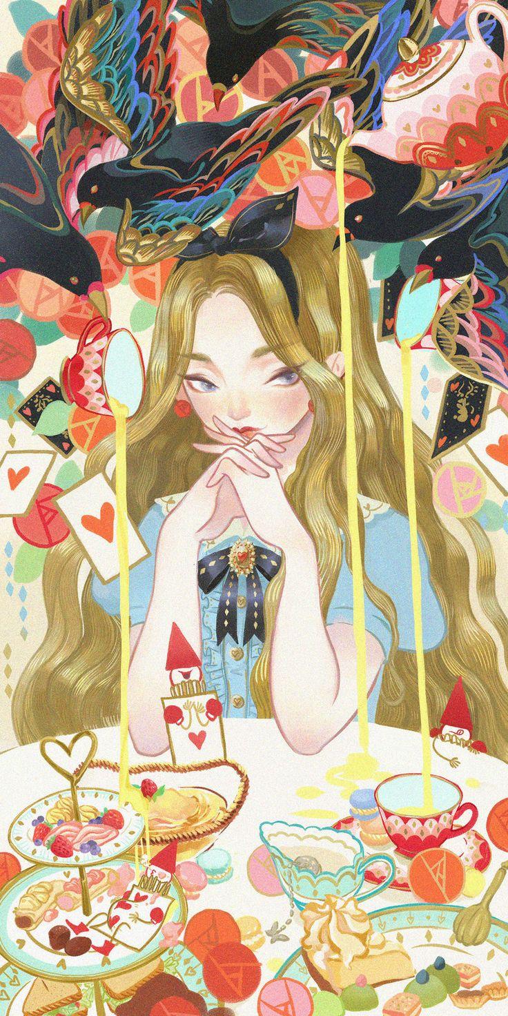 красивые картинки,art,арт,Алиса в стране чудес,KibiQeQ