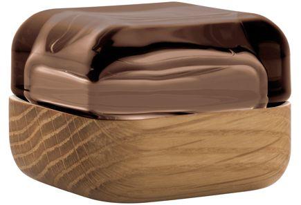 Iittala - Iittala Vitriini -rasia 60 x 60 mm, hiekka/tammi