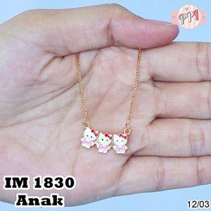 Perhiasan Kalung Emas 18 k Hello Kitty Cat M 1830 Anak