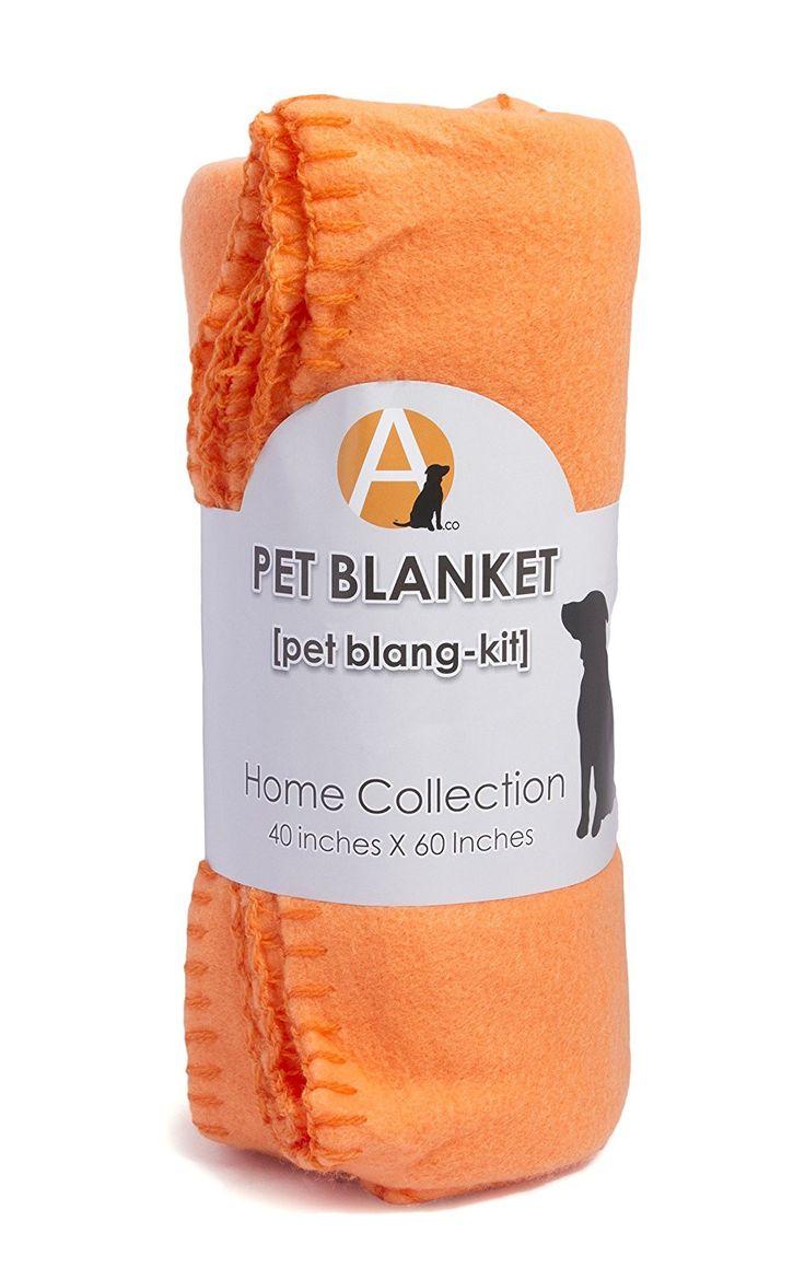 Adog Soft Fleece Orange Dog Blanket