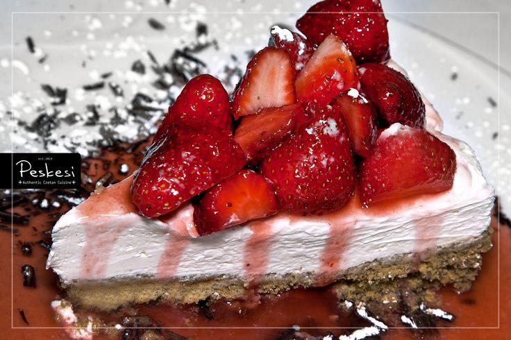 Έχετε δοκιμάσει Κρητικό... Cheesecake; Αντί για μπισκότο, χρησιμοποιούμε σαν βάση τον #ντάκο και η αφρώδης κρέμα του παράγεται από Κρητικά τυριά!