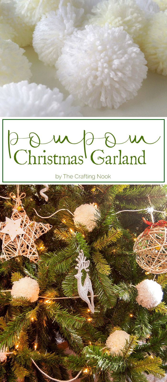 If you are looking for a cute, chick and gorgeous addition to your Christmas decor, this Christmas Pompom Garland is the answer! You will love it!
