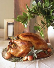 Best ever Turkey I make it every year!  We brined our turkey for 24 hours, so leave plenty of time for this recipe. If you don't brine yours, skip steps 1 and 2. The U.S. Department of Agriculture recommends cooking the turkey until the thickest part of the thigh registers 180 degrees. For a moister bird, we cooked ours to 165 degrees; it will continue to cook outside the oven as it rests.