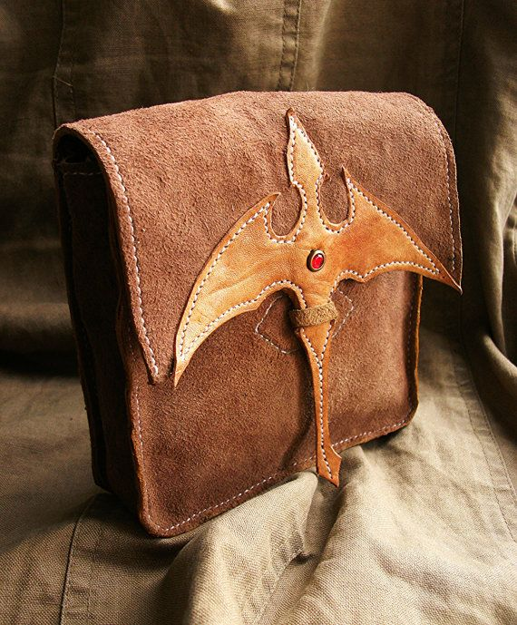 Belth bag / leather / Owner of dragons by DarkCenturies on Etsy, $56.20