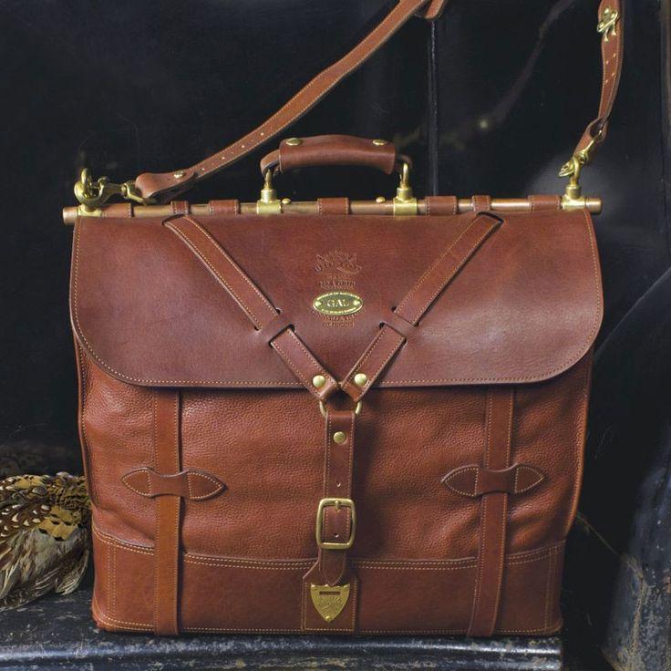 Col. Littleton bag with copper tube + brass findings-SR