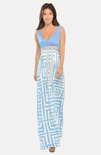 Olian Maternity Maxi Dress available at #Nordstrom