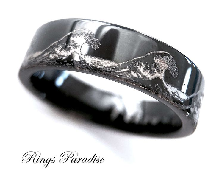 34 best Meteorite Inlay Tungsten Wedding Bands and Engagement