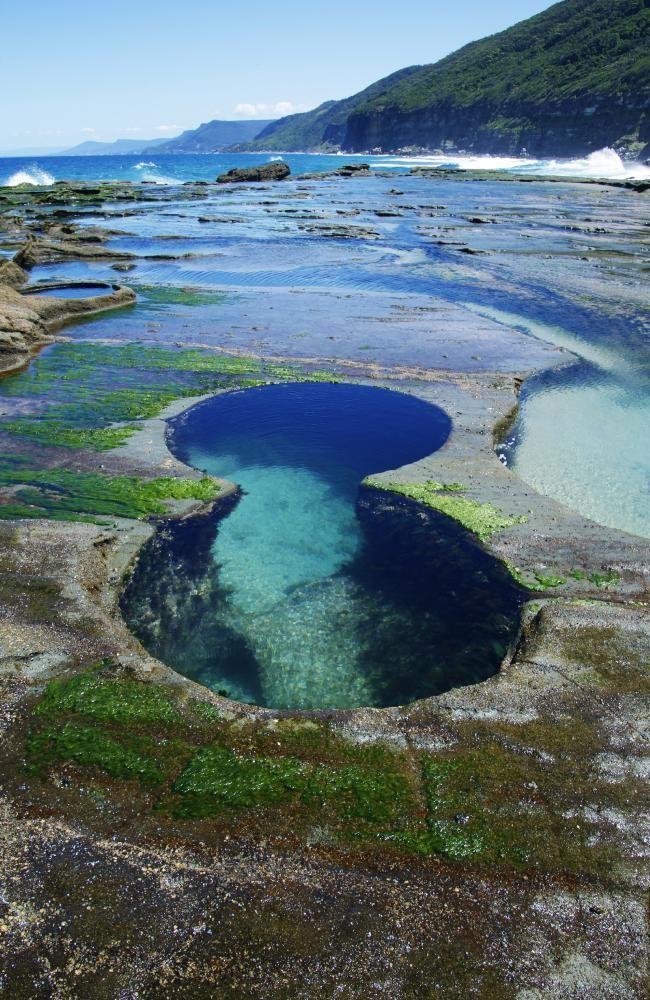 Royal National Park, Sydney, Australia. Near Burning Palms Beach - the Figure 8 Rock Pools