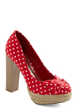 <3: Cute Heels, Naturally Adorable, Adorable Shoes, Adorable Heel, Polka Dot Heels, Things, Beauty, Shoes Heels Wedges Pumps Omy, Bow Heels