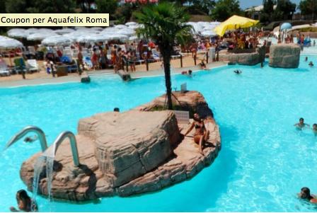 #Roma - Divertimento assicurato con un ingresso giornaliero e affitto armadietto per 2 persone a 19 € invece di 55 al parco acquatico #Aquafelix, il più grande del centro Italia!