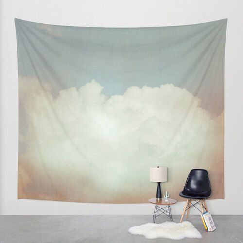 SALE wall tapestry, large size wall art, wall decor, photo tapestry, dreamy wall hanging, sky tapestry, clouds tapestry, nursery wall art by thelastsparrow on Etsy https://www.etsy.com/listing/225038298/sale-wall-tapestry-large-size-wall-art