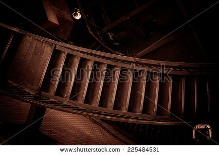 Old Stairway In Sepia Colors Stock Photo 225484531 : Shutterstock