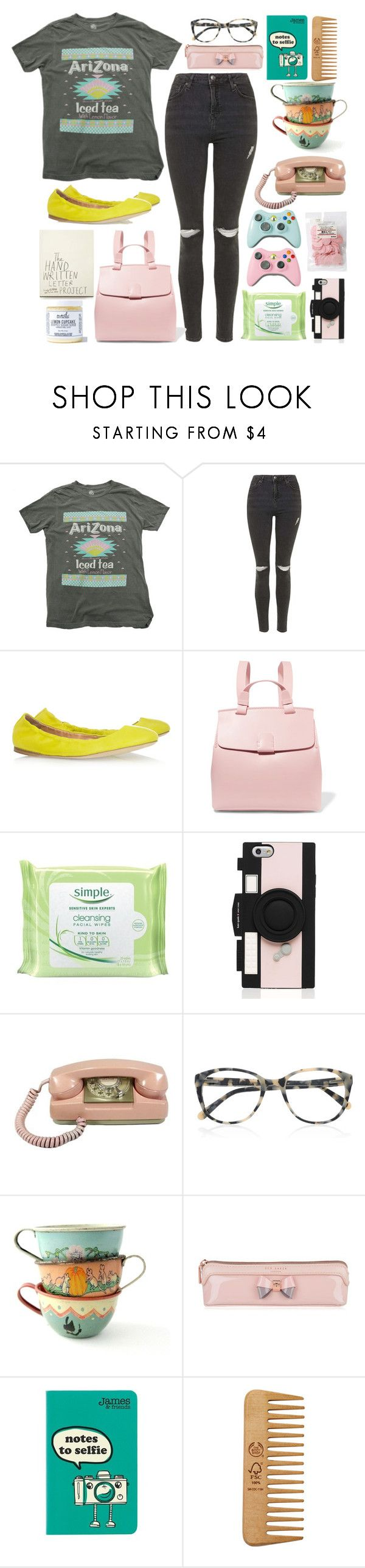 """""""Iced Tea with Lemon"""" by prettyorchid22 ❤ liked on Polyvore featuring Topshop, Jil Sander, Nico Giani, Simple, Kate Spade, Prism, Ted Baker, The Body Shop, Mod Bath and Body and chicflats"""