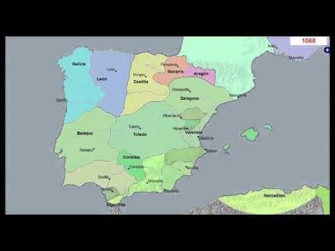 Mapa Histórico de España y Portugal 3000 Años - YouTube