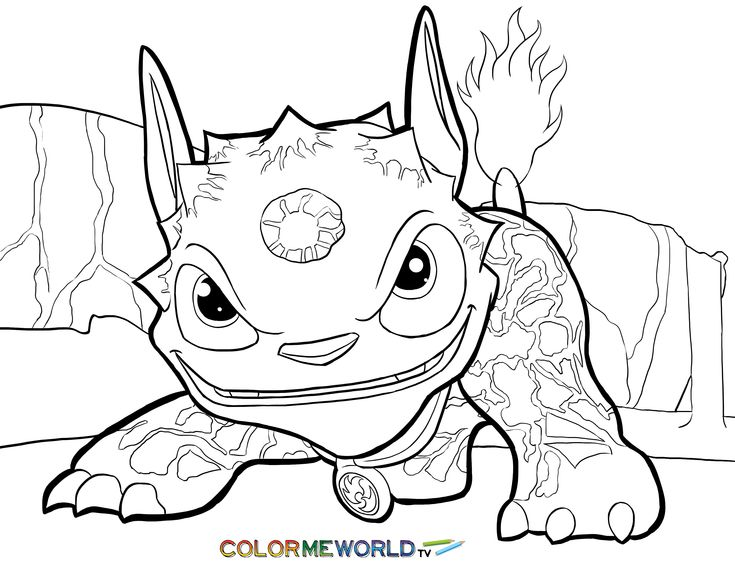 Trend Skylander Coloring Pages