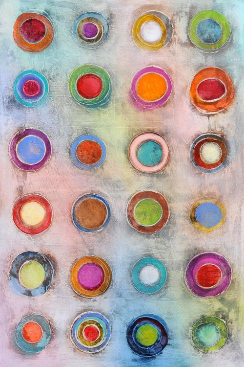 "Original Abstract Art Painting • 36"" x 24"" Contemporary Art ""Candy Store"" • Art2D Studio • Modern Art Painting"