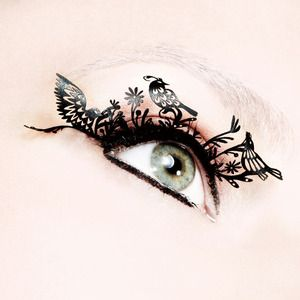 Put a bird on it.: Paper Lashes, Fake Lashes, Fake Eyelashes, Paper Eyelashes, Paper Birds, Paperself Birds, Birds Eyelashes, Birds Paper, Display Window